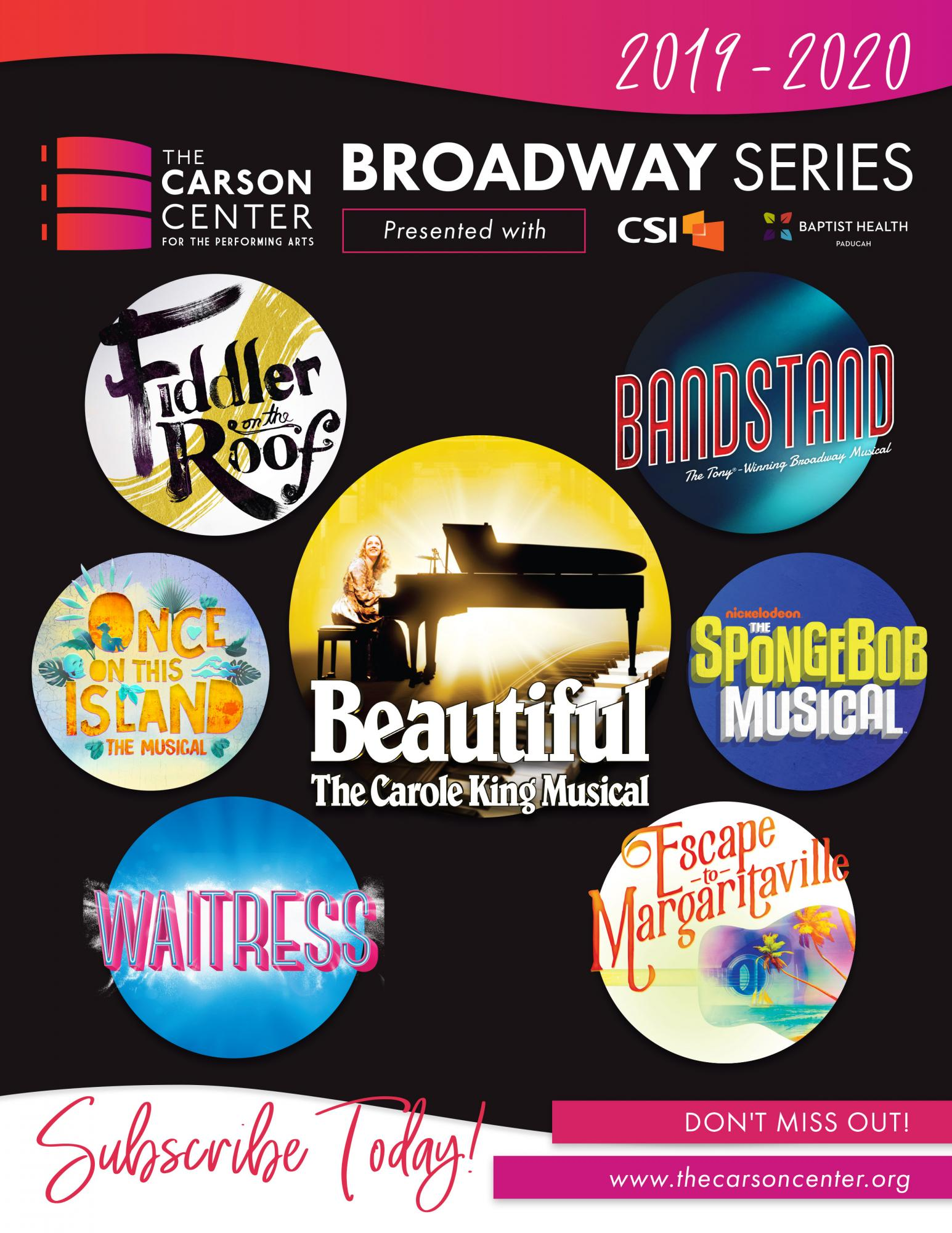 Used Cars Paducah Ky >> 2019-2020 Broadway Season - New Subscribers | The Carson Center