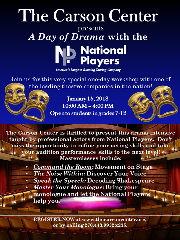 Get Help From Professional Actors Touring And Performing Around The Country Bring In A Monologue Let National Players Coach You